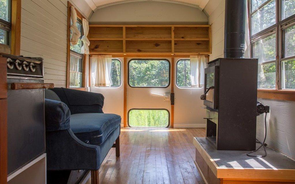 Converted School Bus Tiny House Insidehook