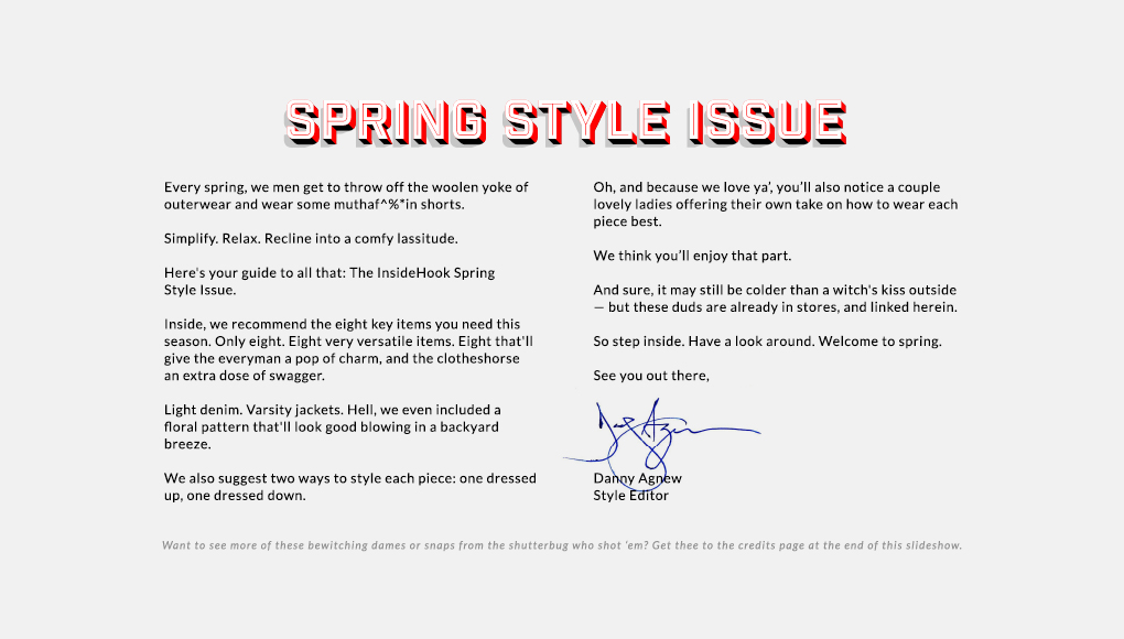 Spring Style Issue 2014 - Editor's Note